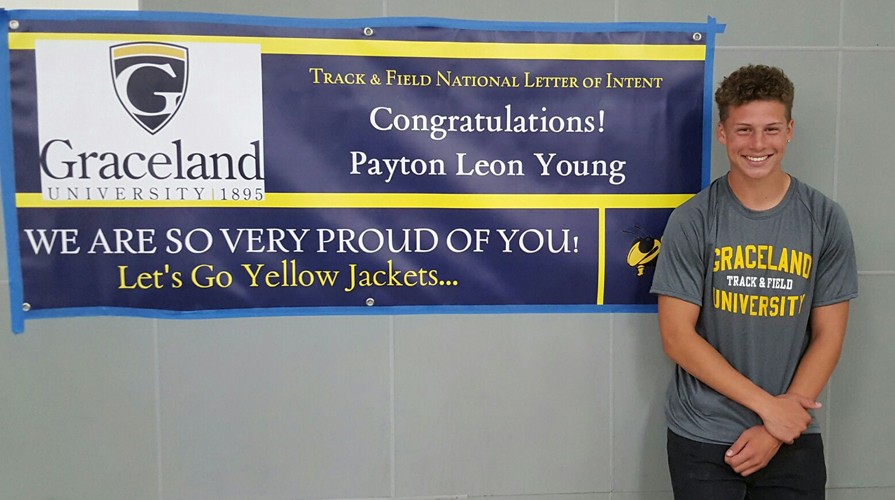 Photo for Track & Fields Signs Payton Young