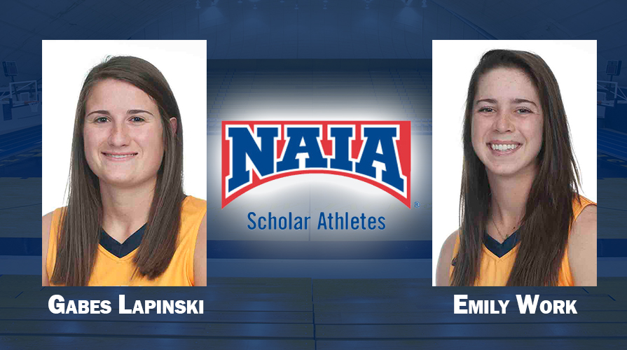 Photo for Lapinski and Work Named Daktronics-NAIA Scholar-Athletes