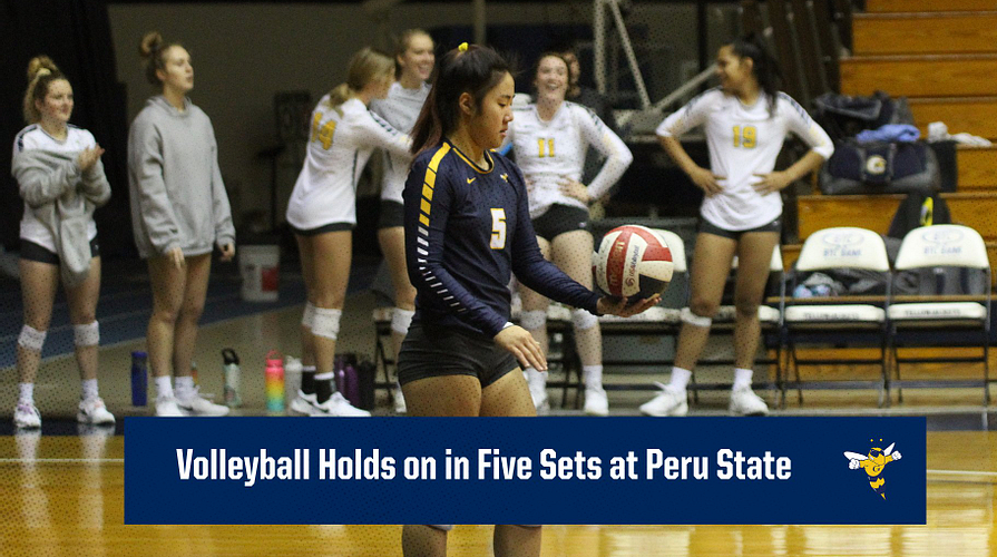 Volleyball Holds On In Five Sets At Peru State Graceland University